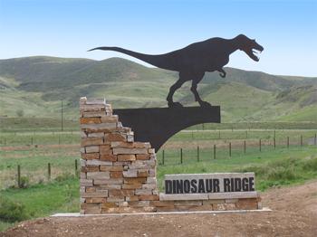 Entry to Dinosaur Ridge.