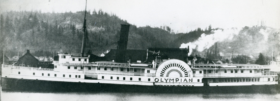 The Paddlewheel Steamer Olympian