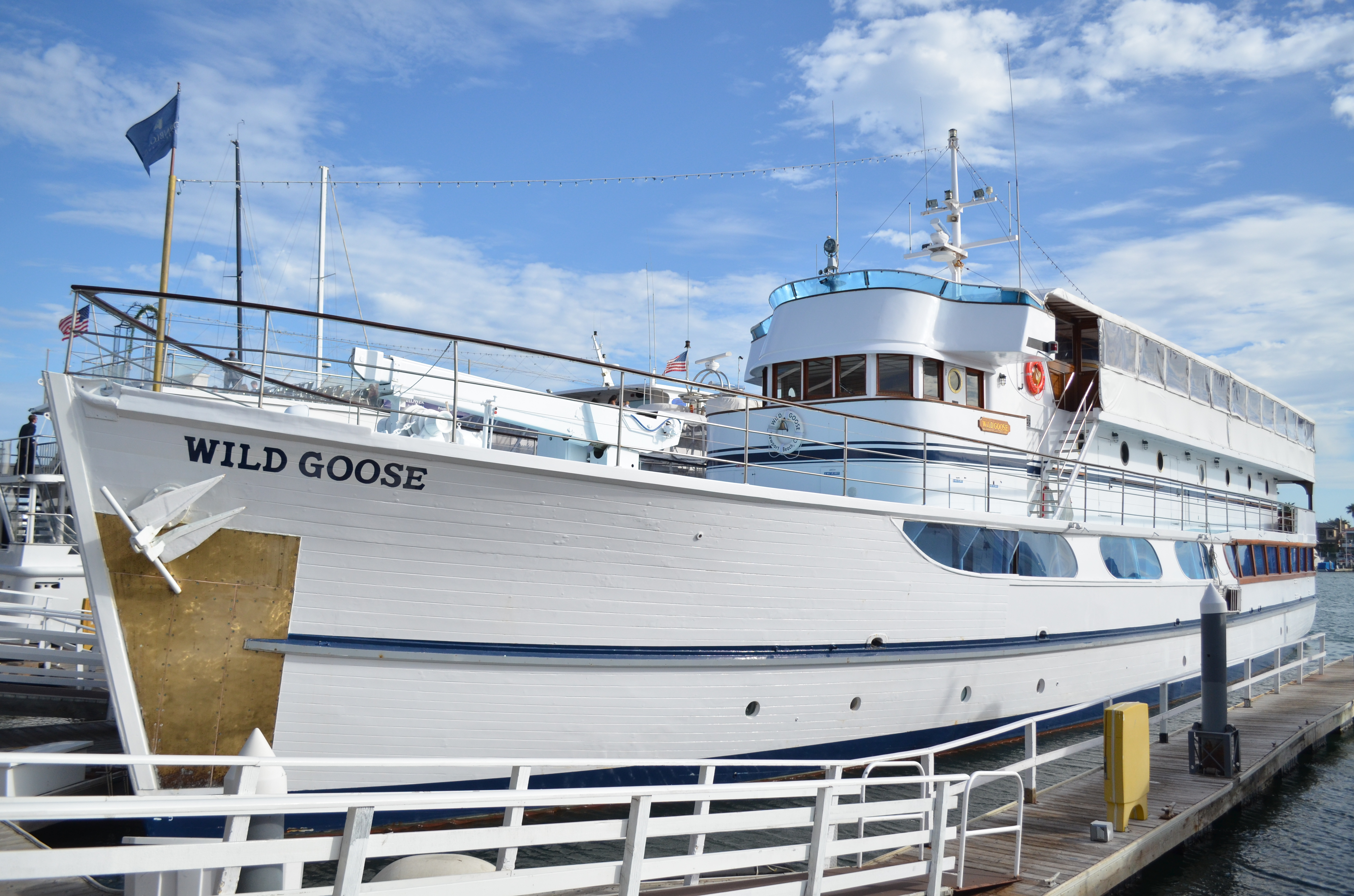 The Wild Goose at her berth.