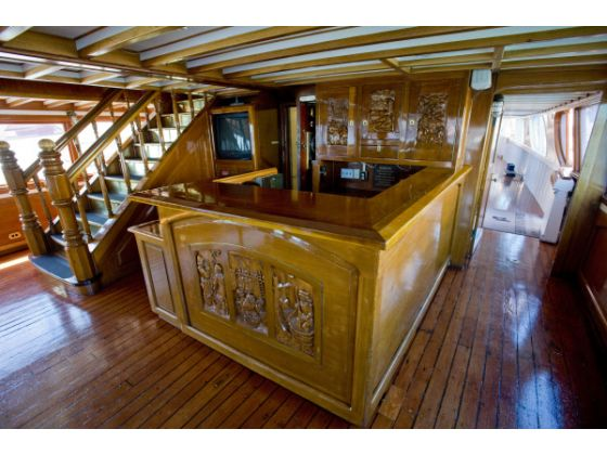 No yacht is complete without a bar.