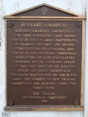 Bernard de Marigny marker