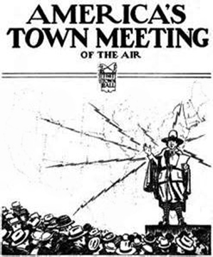 May 30, 1935 - First broadcast of America's Town Meeting of the Air (image from The Town Hall)