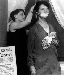 Margaret Sanger's onstage arrest at Town Hall, November 13, 1921, during a public meeting on birth control.