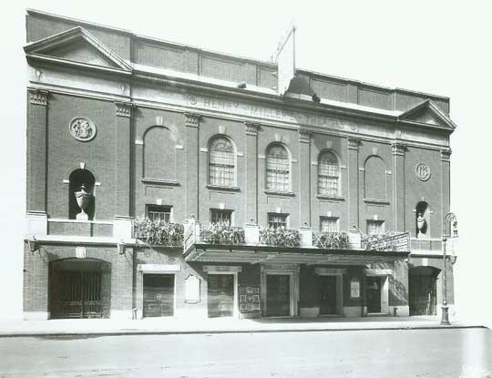 Historic photo of the Henry Miller exterior (image from the Internet Broadway Database)