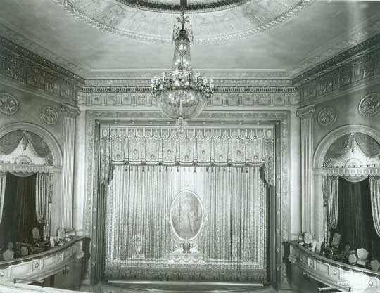 Historic photo of the Henry Miller interior (image from the Internet Broadway Database)