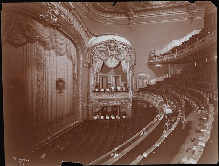 Historic photo of the Lyceum Theatre interior (image from the Museum of the City of New York)