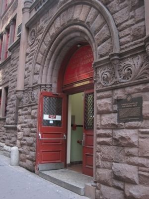 Former School of Performing Arts entrance (image from Historic Markers Database)