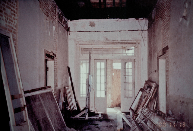 Curran Hall during rehabilitation, ca. 1990s Courtesy of the City of Little Rock