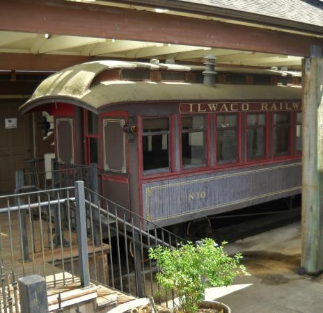 The passenger train car