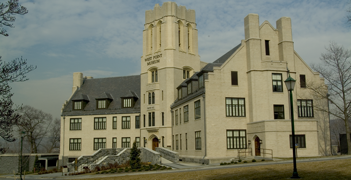 The West Point Museum is located in Taylor Hall, constructed in 1909.