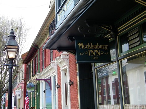 The historic home is now Mecklenburg Inn