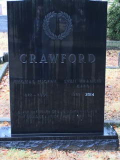 Gravestone of the Sybil F. Crawford, author of Jubilee: Mount Holly Cemetery, Little Rock, Arkansas : Its First 150 Years and Mount Holly Cemetery, Little Rock, Arkansas Burial Index 1843-1993. Photo taken by Randall Crawford.