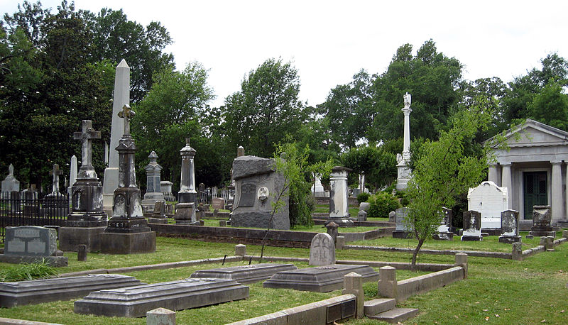 A wide example of the variety of mortuary architecture found at Mount Holly. Photo taken by Bruce W. Stracener.