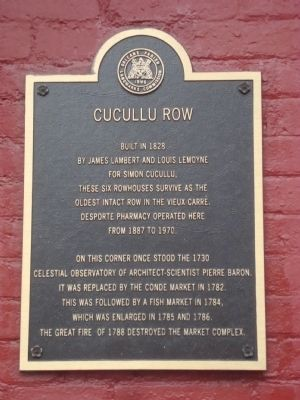 Cucullo Row historical marker