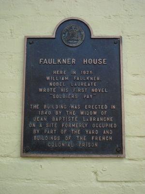 Faulkner House marker