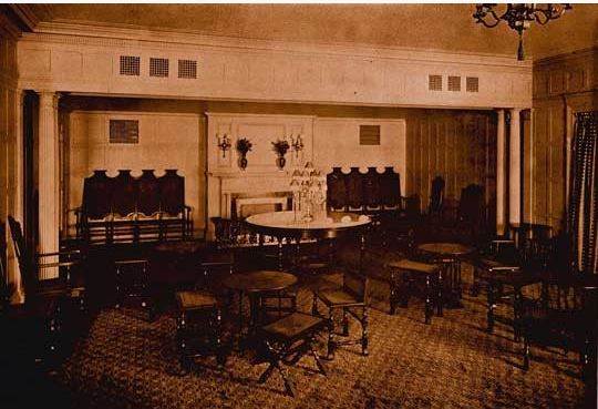 The Little Theatre Tea Room (image from the Shubert Archives)