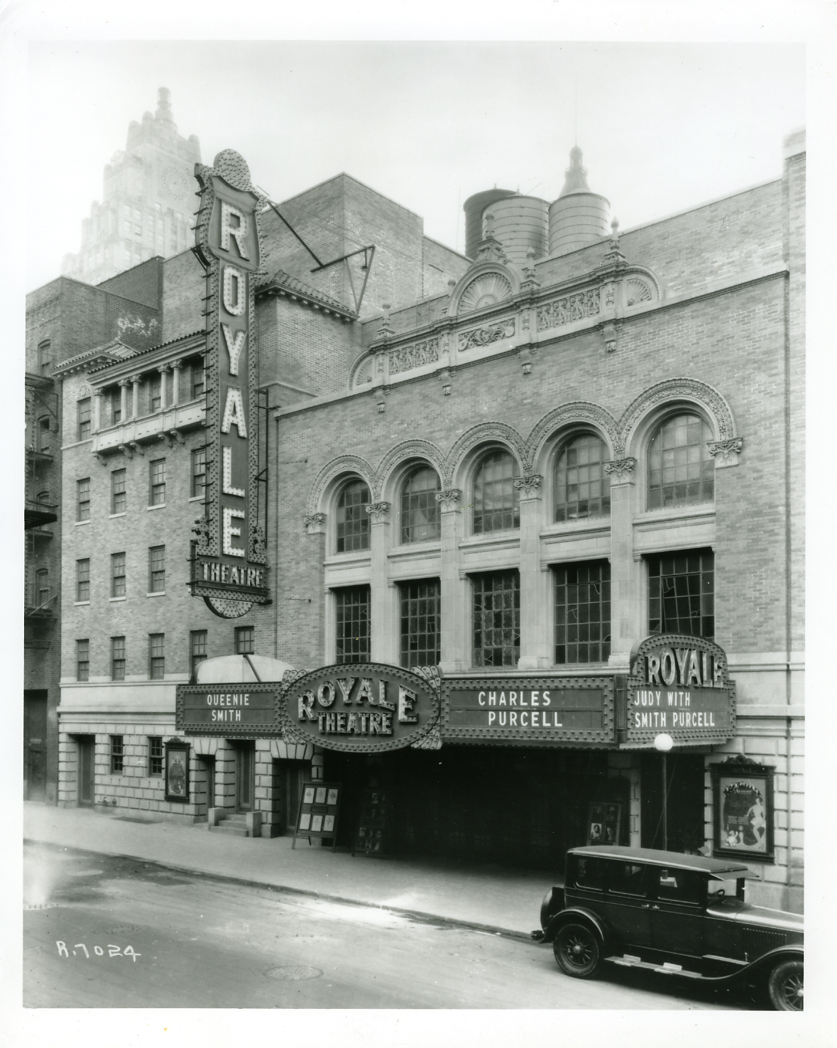 Historic photo of the Royale (later renamed the Bernard B. Jacobs Theatre) (image from the Shubert Archives)