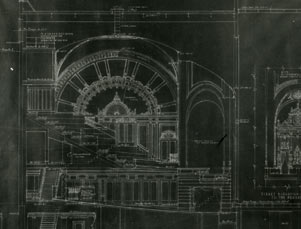 Architectural drawing for the Bernard B. Jacobs Theatre (image from the Shubert Archives)