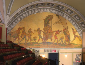 Restored mural (image from the Shubert Archives)