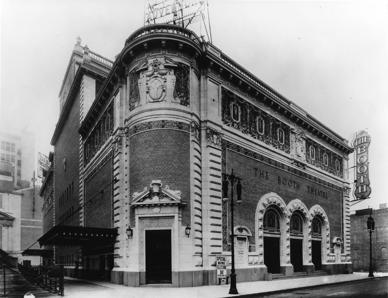 Booth Theatre, 1913 (image from the Shubert Archives)