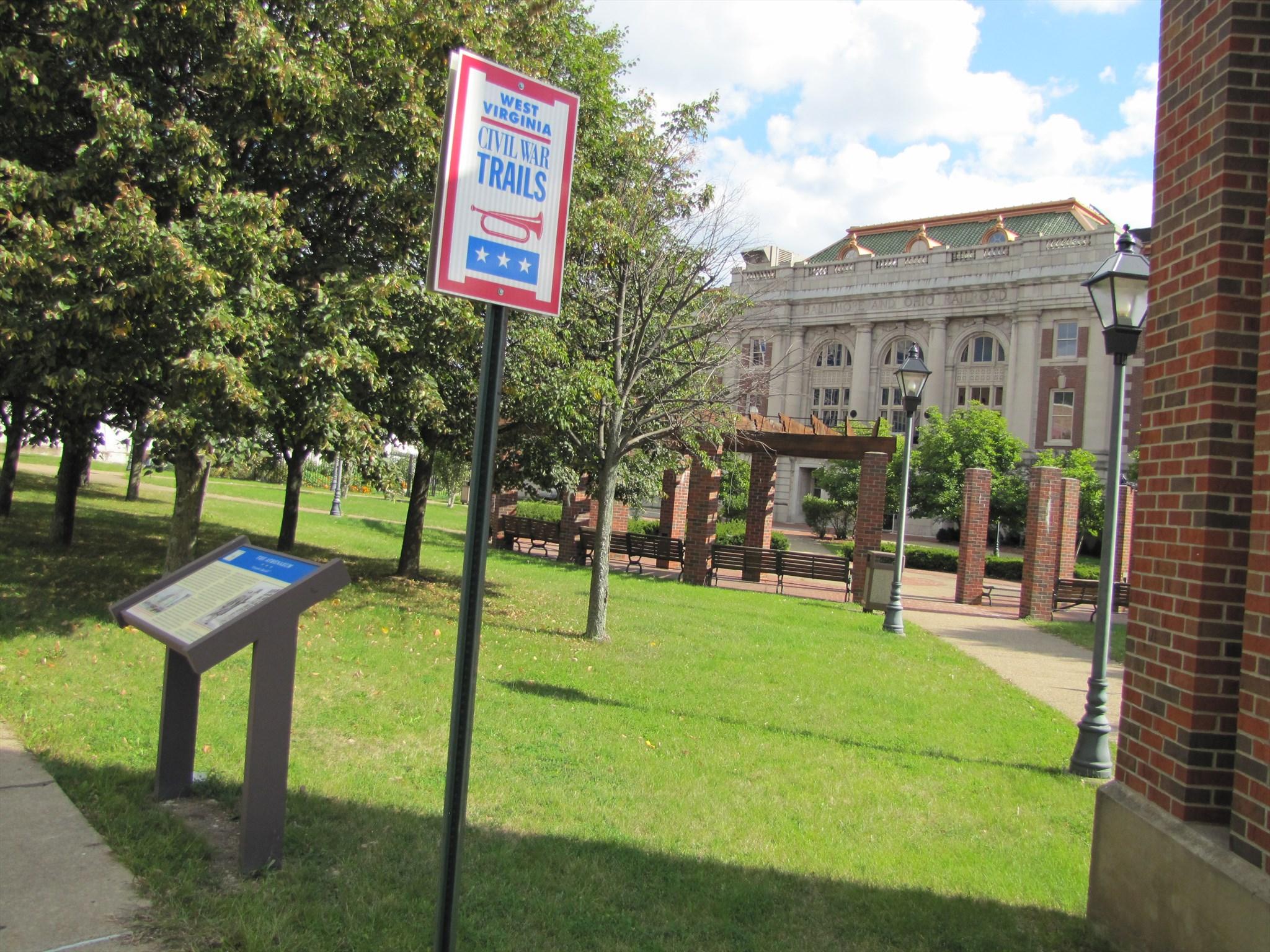 Small park where The Athenaeum once stood