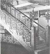 1893 image of aluminum cast staircases, first use of aluminum in construction of buildings