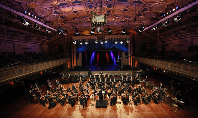 The Grand Ballroom at the Manhattan Center (image from Wordless Music)