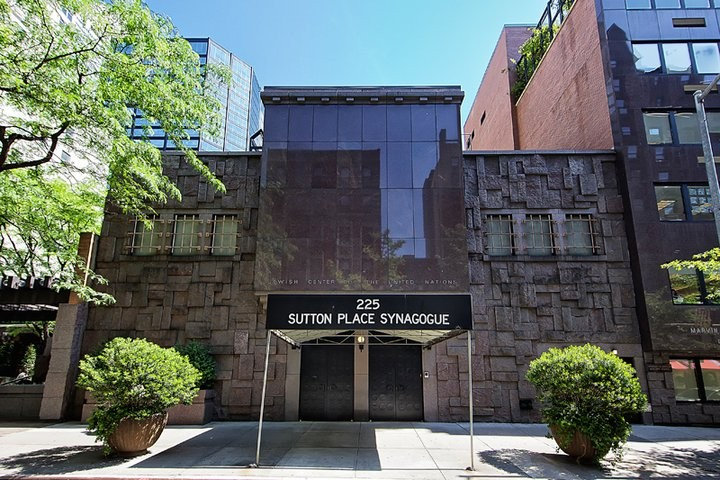 Sutton Place Synagogue (image from mazelmoments.com)