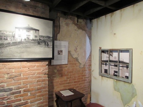 Exhibits inside the Irish Shrine and Railroad Workers Museum