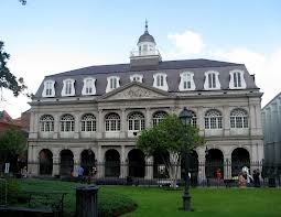 View of the Cabildo from Jackson Square.