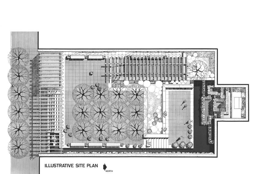 Plan view of Greenacre Park (image from sasaki.com)