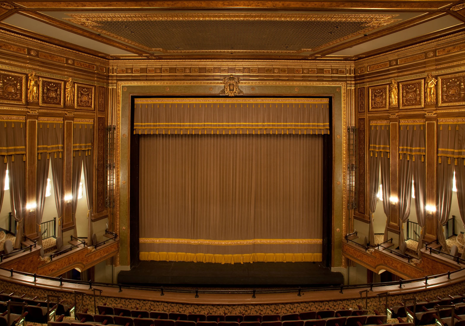 Renovated interior of the Nederlander Theatre (image from vipseats.com)
