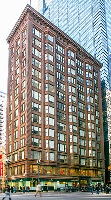 The Chicago Building, designed by Holaburd and Roche is an excellent example of the Chicago Style of architecture