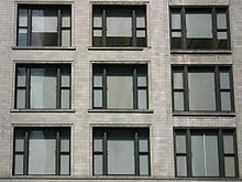 The Chicago School style window