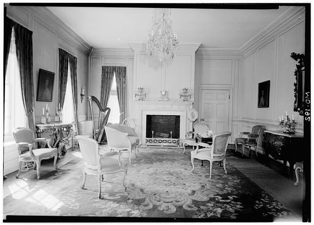 Mount Clare Parlor, October 1958. Credit: Library of Congress Prints and Photographs Division Washington, MD,4-BALT,3-3