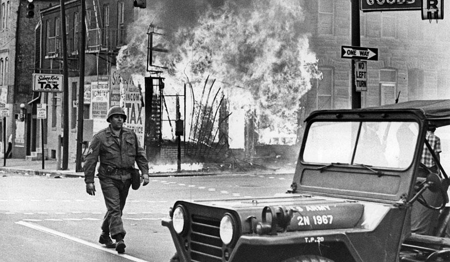 One of the most iconic images of the '68 Baltimore riots.