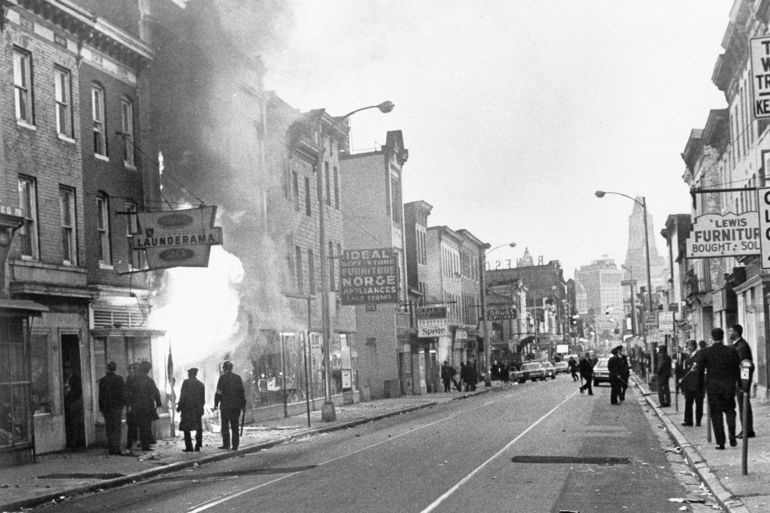 Gay Street on April 6th, 1968. Photo by AP