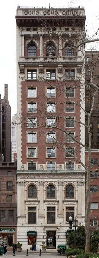 The Engineers' Club Building, now Bryant Park Place Apartments (image from the New York City Landmarks Preservation Commission)