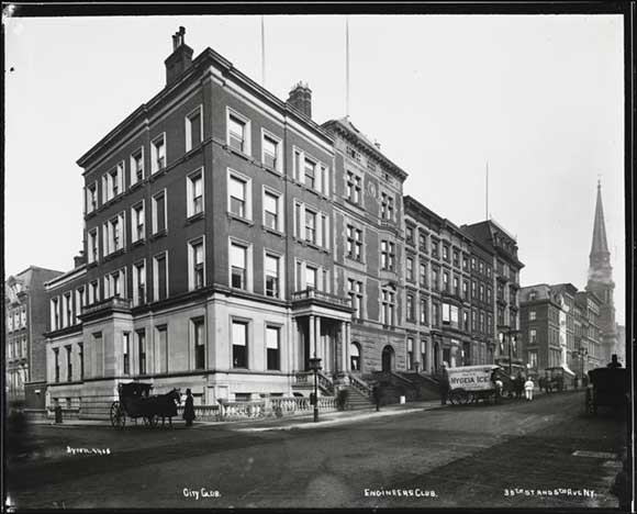 The Engineers' Club, 1897 (image from the Museum of the City of New York)