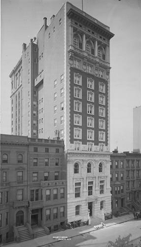 The Engineers' Club, 1905 (image from the Museum of the City of New York)