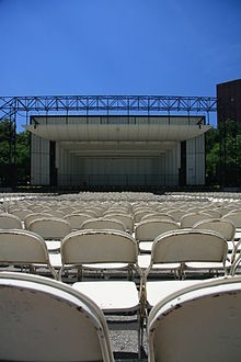 View of bandshell from seats