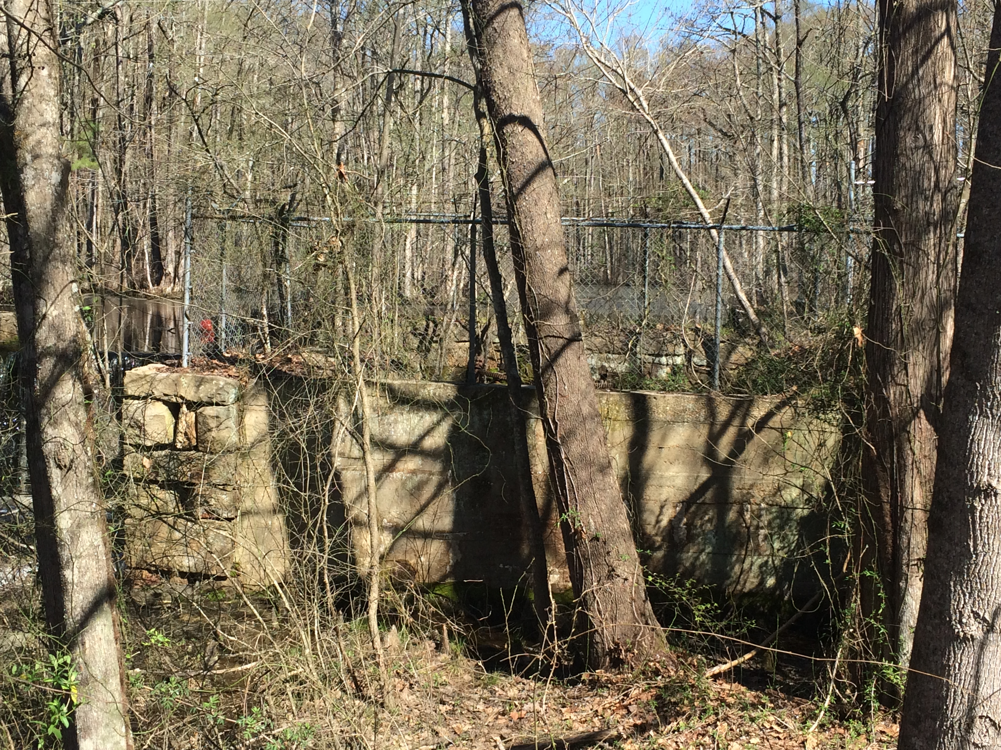 Site of the original gristmill.  (Photo by D. Chad Guthrie)