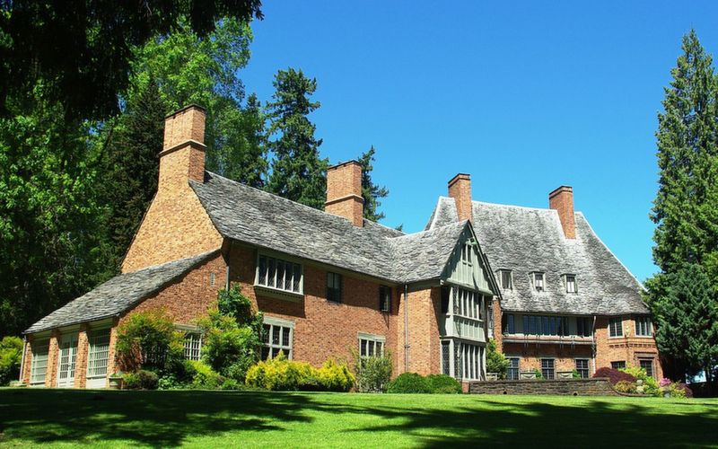 The Manor House at Lewis and Clark College.  Part of the Fir Acres estate given to the college in 1942.