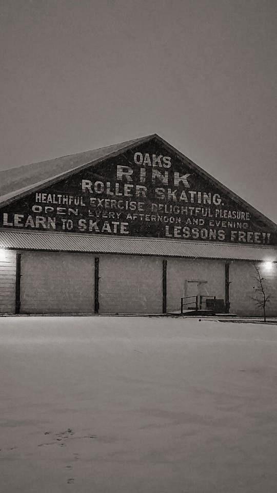 Skating Rink at Oaks Amusement Park - Oldest west of the Mississippi River.