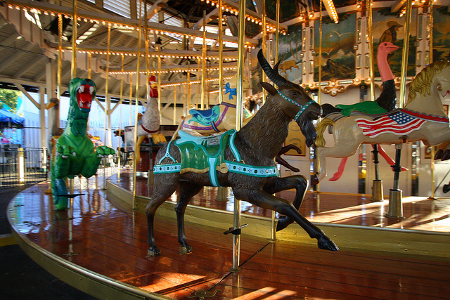 Hershell-Spillman Carousel built in 1911 and listed in the National Register of Historic Places in 1987.