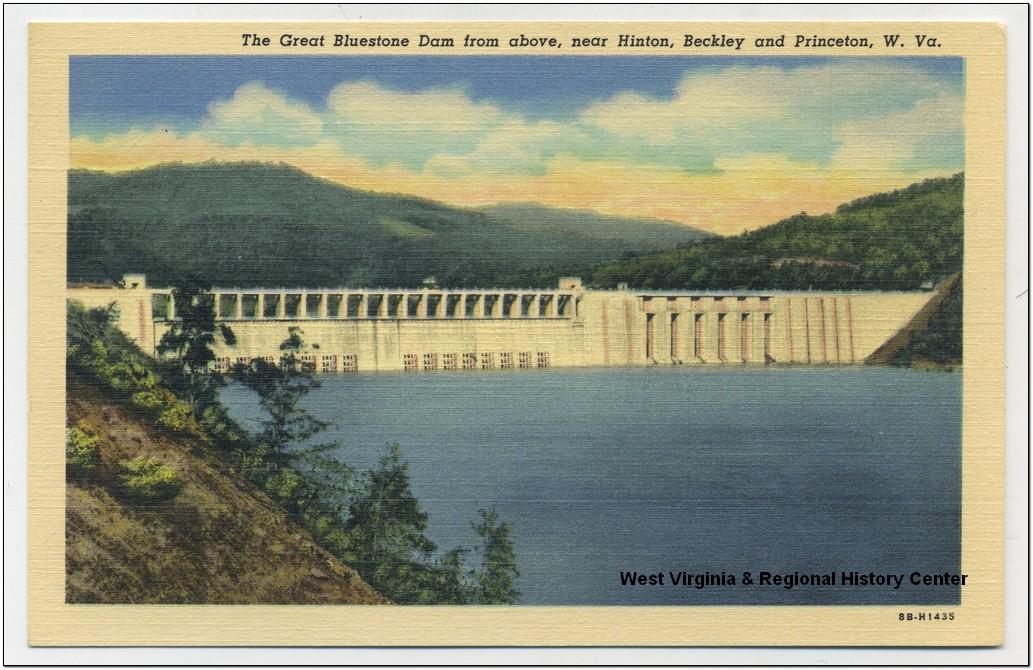 Postcard of the Bluestone Dam