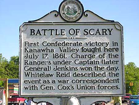 Battle of Scary Creek historical marker