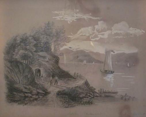 Sybil's Cave on the Hudson's Banks (www.hobokenmuseum.org)