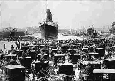 Titanic's arrival (http://venues.chelseapiers.com/)