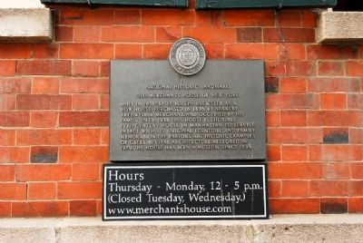 Historic Marker for the Merchant's House (image from Historic Markers Database)